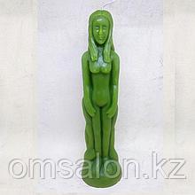 Свеча восковая Женщина (зеленая)