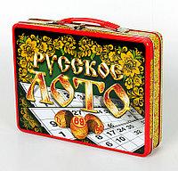 Русское лото в жестяном чемоданчике «Русские узоры», фото 1