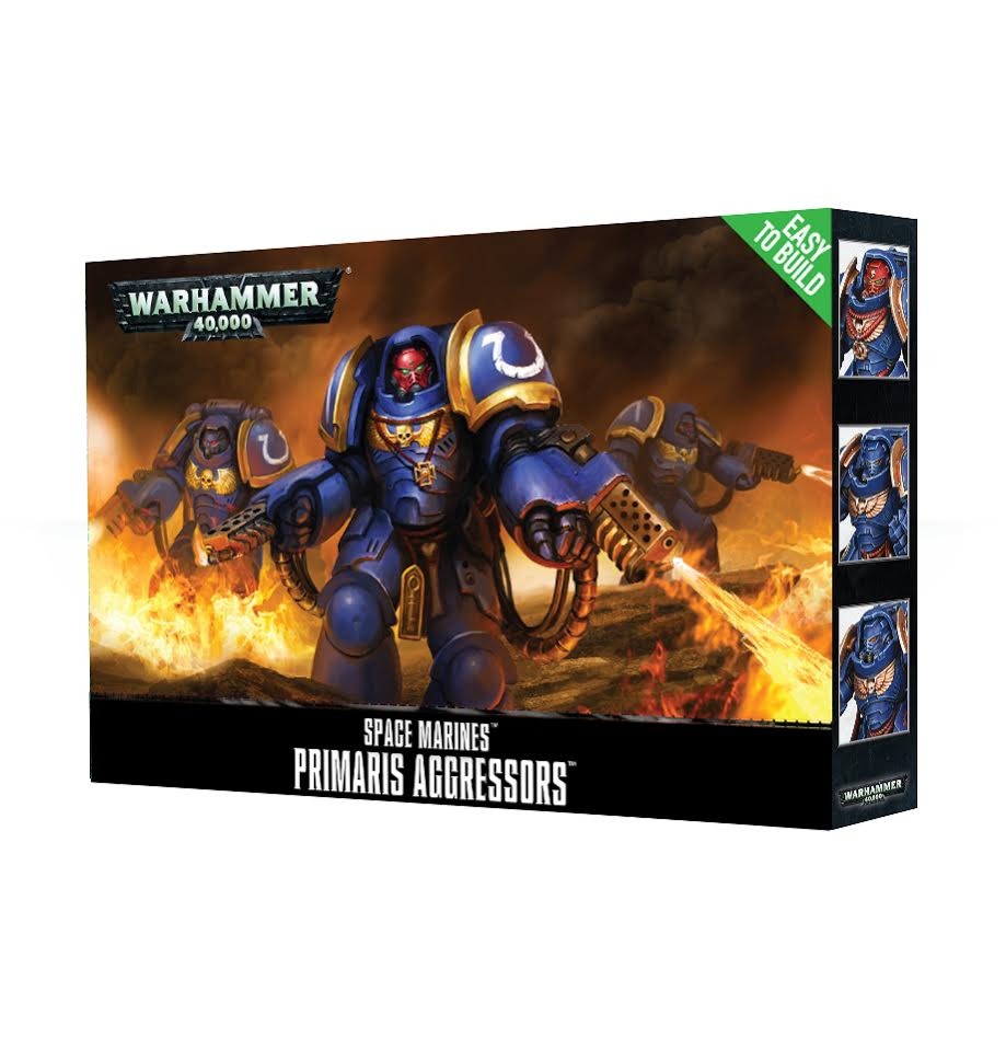 Warhammer 40000: Easy to build Space Marines Primaris Agressors