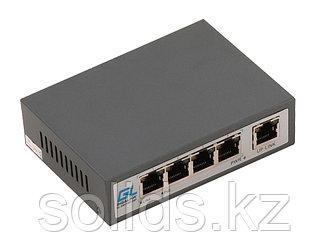 Коммутатор 4 PoE (802.3af) порта 100Мб/с, 1 Uplink порт 100Мб/с, 60Вт