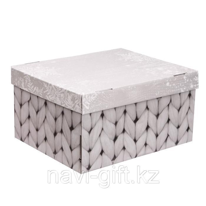 Складная коробка «Теплый дом», 31,2 х 25,6 х 16,1 см - фото 1
