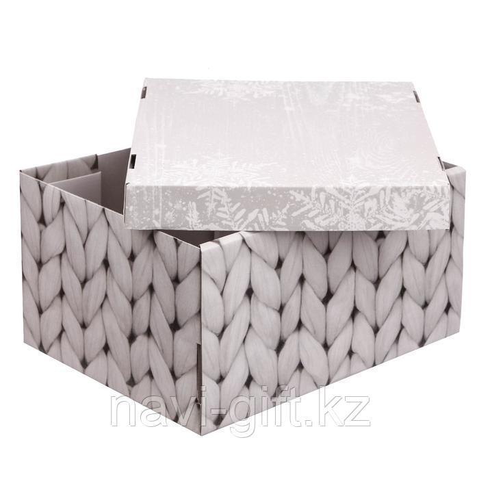 Складная коробка «Теплый дом», 31,2 х 25,6 х 16,1 см - фото 3