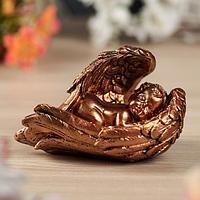 """Статуэтка """"Ангел в крыле"""", малая, бронза, фото 1"""