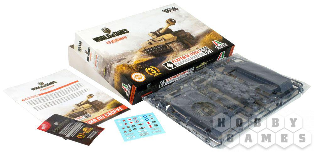 World of Tanks. Pz.Kpfw.VI TIGER 1. Масштабная модель 1:56 (Сборный танк) - фото 3