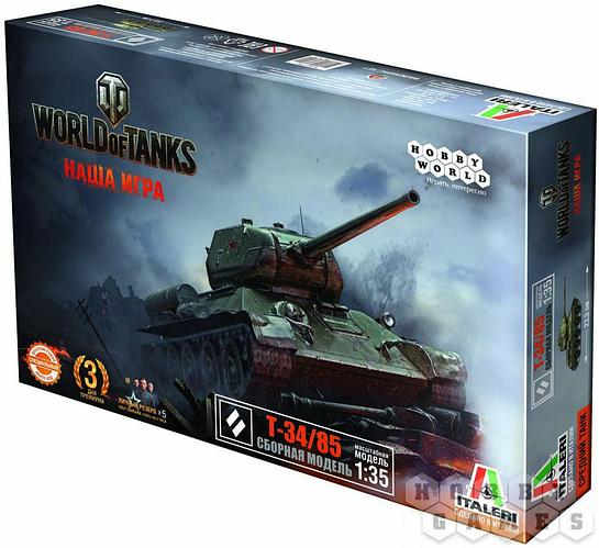 World of Tanks. T-34-85 Масштабная модель 1:35