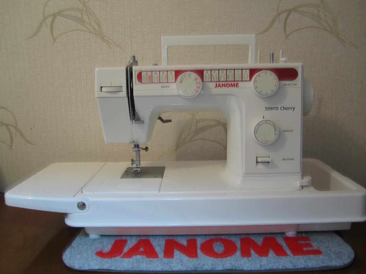 Швейная машинка Janome 399 PD Cherry со столиком