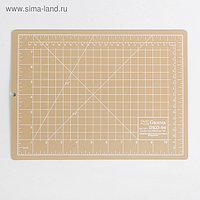 Мат для резки, двусторонний, 30 × 22 см, А4, цвет бежевый