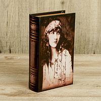 """Шкатулка-книга дерево """"Лили"""" кожзам 21х13х5 см, фото 1"""