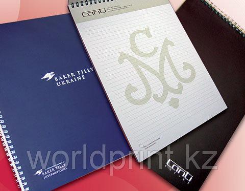 Изготовление блокнотов с логотипом , печать блокнотов, блокноты заказать Астана