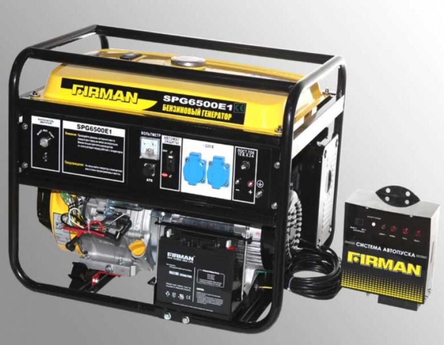 Бензиновый генератор SPG6500E1+ATS