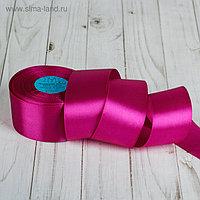 Лента атласная, 50 мм, 33±2 м, №027, цвет светло-лиловый
