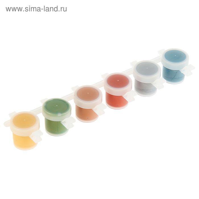 Краска акриловая набор 6 цветов*5 мл WizzArt Kid, Metallic WKSM6.5 - фото 2
