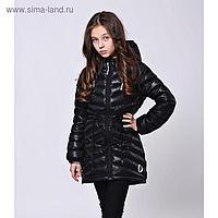 Парка (куртка) Каролина 21-151/1 черный, рост 134 см