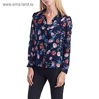 Блуза женская 160821-9277-4 темно-синий, р-р 42