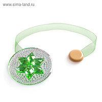 Подхват для штор «Звезда», d = 7,8 см, цвет зелёный
