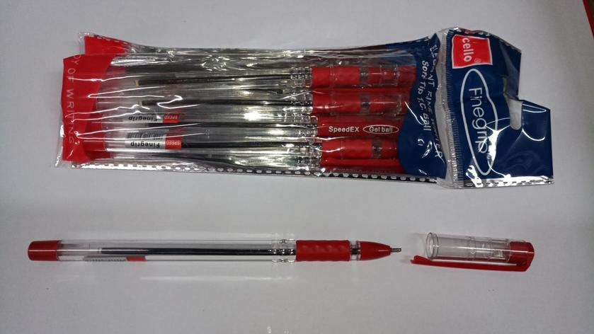 Ручка Cello Finegrip красная, фото 2