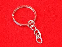 Основа брелка для ключей, плоское кольцо с цепочкой