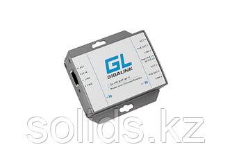 Усилитель сигнала Ethernet 100Мбит/с, 802.3af, подключение до 2 устройств