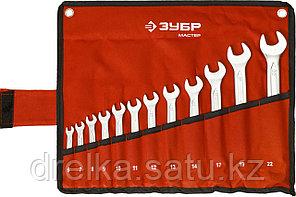 Набор комбинированных гаечных ключей 12 шт, 6 - 22 мм, ЗУБР, фото 2
