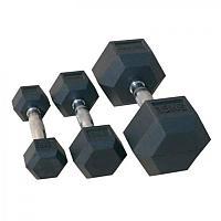 Гантельный ряд обрезиненный 1 кг - 10 кг (72014/1-10)