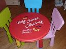 Детский стул дизайнерский IKEA синий, фото 3