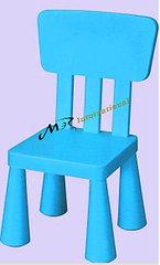Детский стул дизайнерский IKEA синий