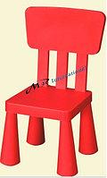 Детский стул дизайнерский IKEA красный