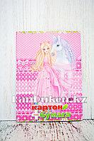 Набор двухстороннего цветного картона и цветной бумаги Yalong JYCZ-20-94 Принцесса в розовом платье