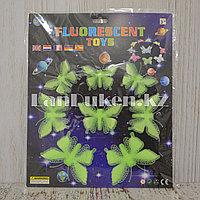 Фосфорные бабочки зеленые 3D наклейки на потолок в детскую