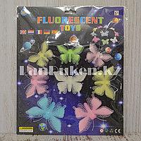 Фосфорные бабочки разноцветные 3D наклейки на потолок в детскую