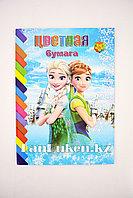 Набор двухсторонней цветной бумаги 10 листов для девочек A4-CSZ-20 Анна и Эльза Холодное сердце