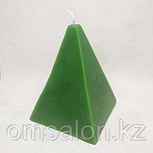 Свеча восковая Пирамида (зеленая)