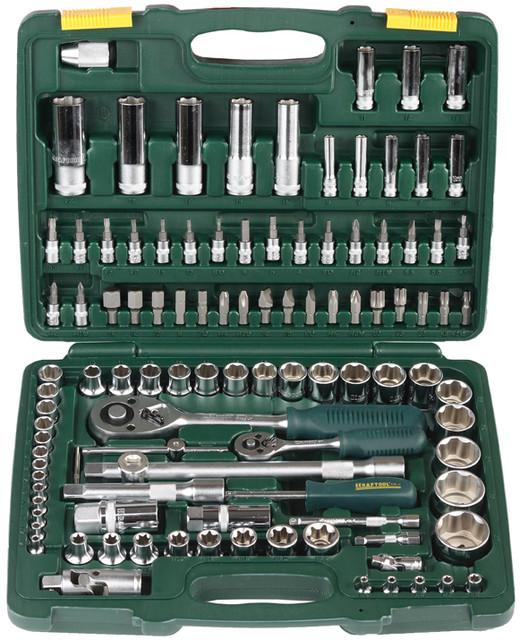 Наборы слесарно-монтажного инструмента и торцовых головок