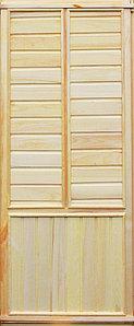 """Дверной блок """"Глухая 2"""" осина 1700х800х65 А"""