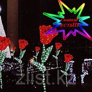"""Фигуры личные светящиеся светодиодные акриловые 3D Цветок """"Тюльпан"""" - фото 1"""