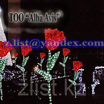 """Фигуры личные светящиеся светодиодные акриловые 3D Цветок """"Тюльпан"""" - фото 2"""