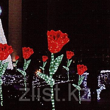 """Фигуры личные светящиеся светодиодные акриловые 3D Цветок """"Тюльпан"""" - фото 3"""