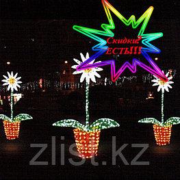 """Фигуры светящиеся светодиодные уличные акриловые 3D Цветок """"Ромашка"""""""