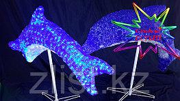 """Фигура светящаяся уличная светодиодная акриловая 3D """"Дельфин"""""""