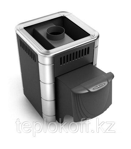 Печь для бани ТМФ Оса Carbon дверца антрацит антрацит нерж.вставки