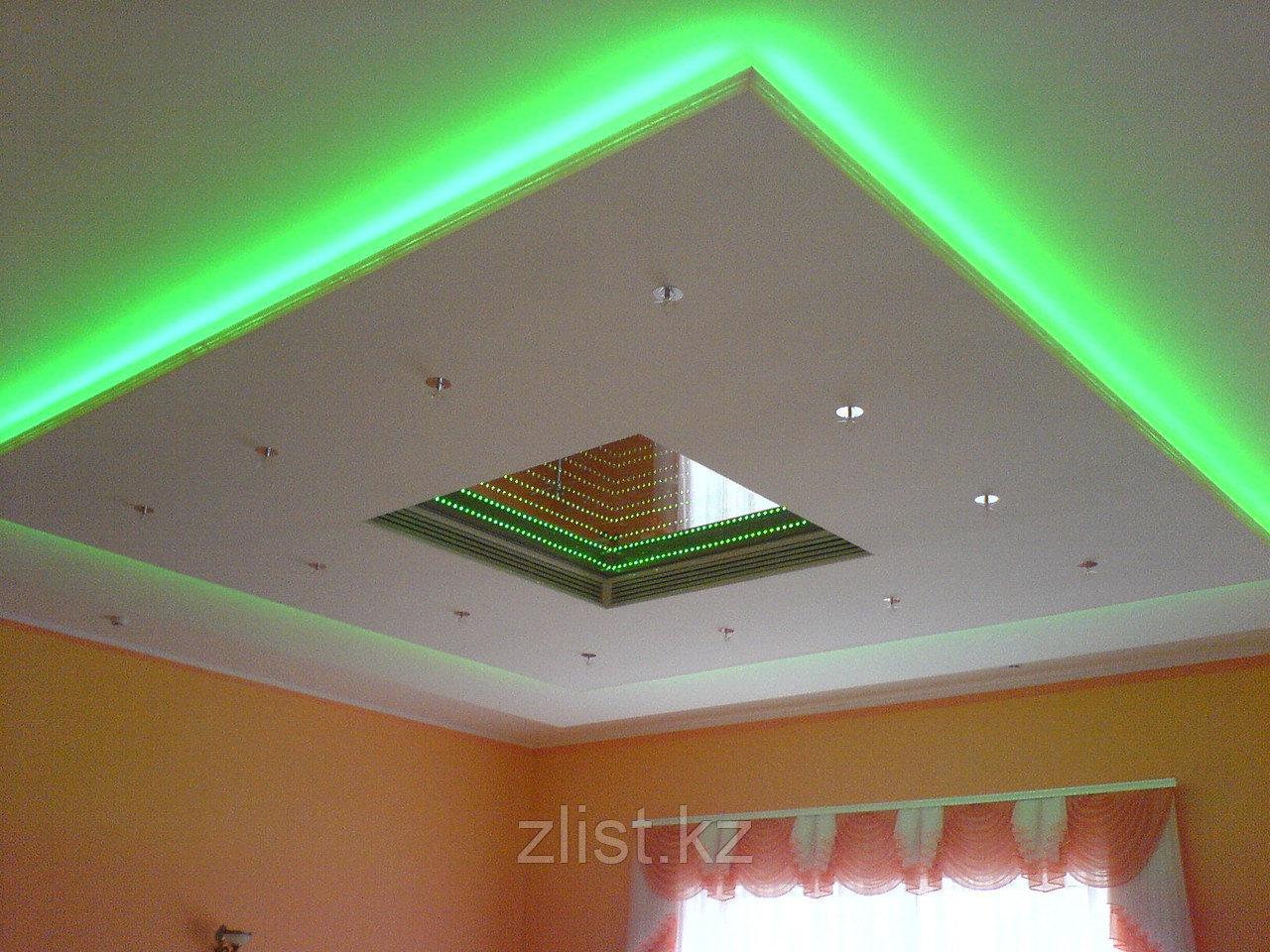 Монтаж подсветки потолков, декоративная подсветка потолка