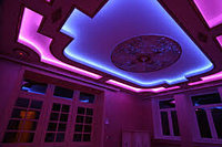 Монтаж подсветки потолков, декоративная подсветка потолка, фото 4