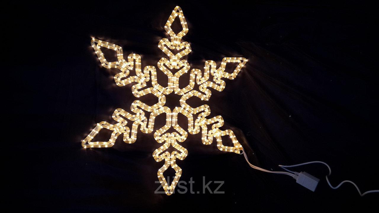 Снежинка из дюралайта