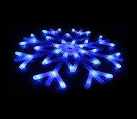 Снежинка новогодняя пластиковая