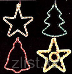 Звезды новогодние конструкции из дюралайта