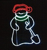 Снеговик из дюралайта