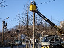 Установка уличного освещения, установка фонарей, установка светильников, установка опор уличного освещения