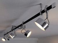 Установка трековых светильников, монтаж светильников на треках, монтаж светильников направленного цвета