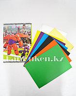 Набор цветной картон 8 листов CSZ-8-90 Город героев