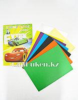 Набор цветной картон 8 листов CSZ-8-90 Тачки